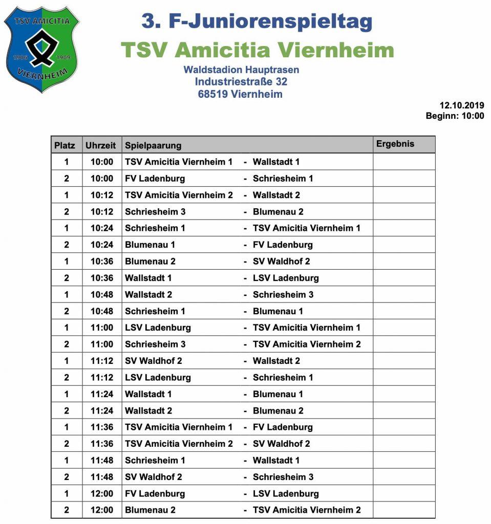 Spielplan Viernheim